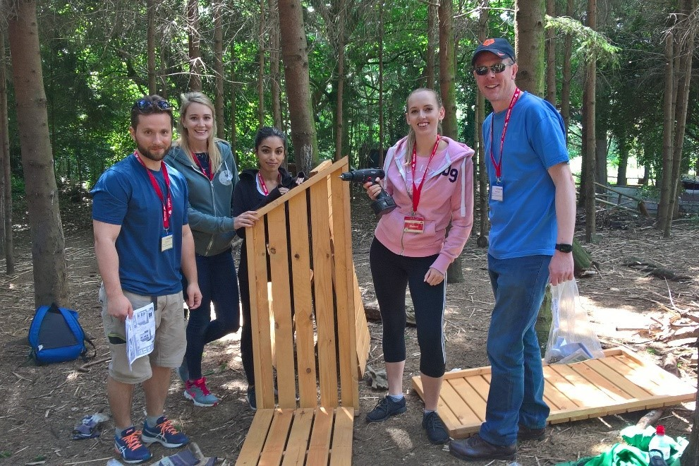 BSA's London team volunteered with Wide Horizons